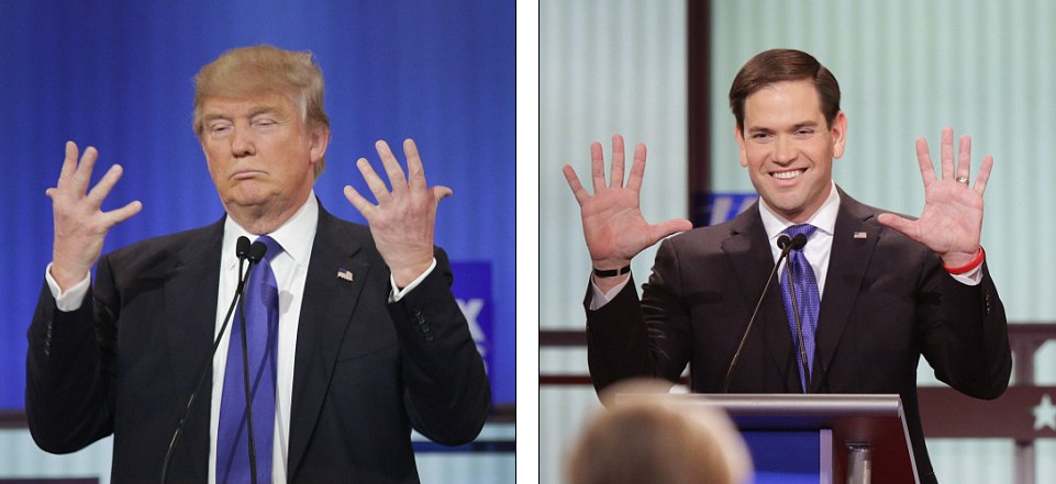 Trump brags about his manhood, denies he has small hands during the ...